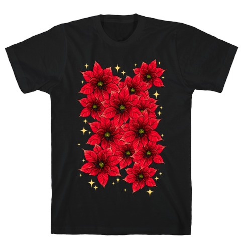 Poinsettia Bouquet T-Shirt