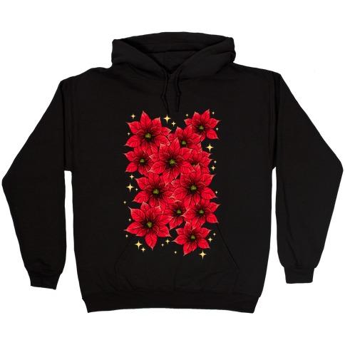 Poinsettia Bouquet Hooded Sweatshirt