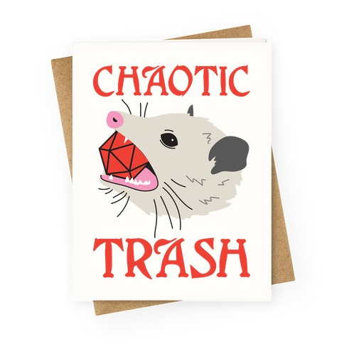 Chaotic Trash (Opossum) Greeting Card