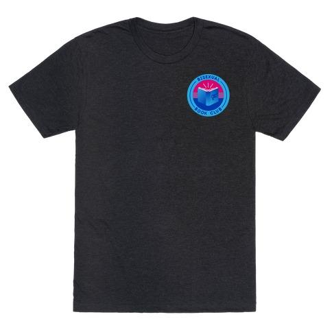 Bisexual Book Club Patch Version 2 White Print T-Shirt