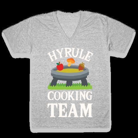 Hyrule Cooking Team V-Neck Tee Shirt