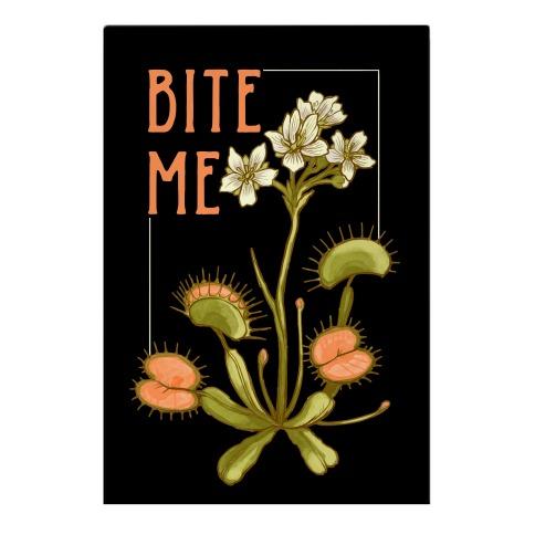 Bite Me Venus Flytrap Garden Flag