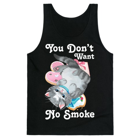 You Don't Want No Smoke Vintage Kitten Tank Top