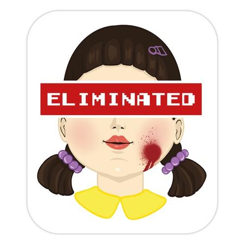 Eliminated (Squid Game) Die Cut Sticker