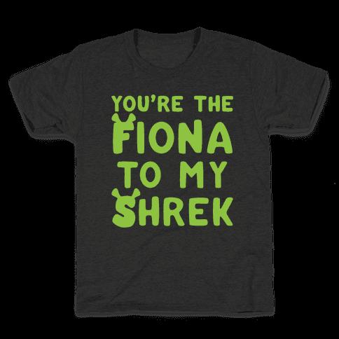 You're The Fiona To My Shrek Parody White Print Kids T-Shirt