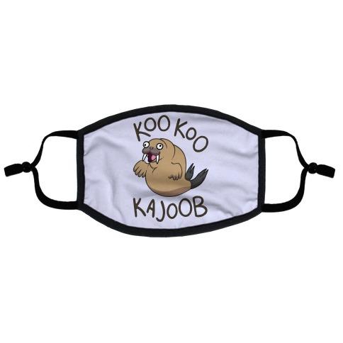 Koo Koo Kajoob Derpy Walrus Flat Face Mask