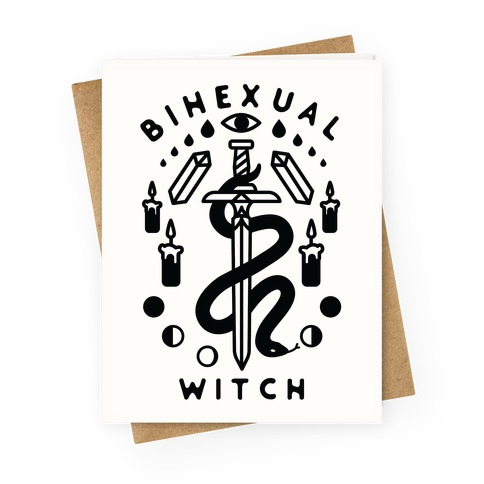 Bihexual Witch Greeting Card