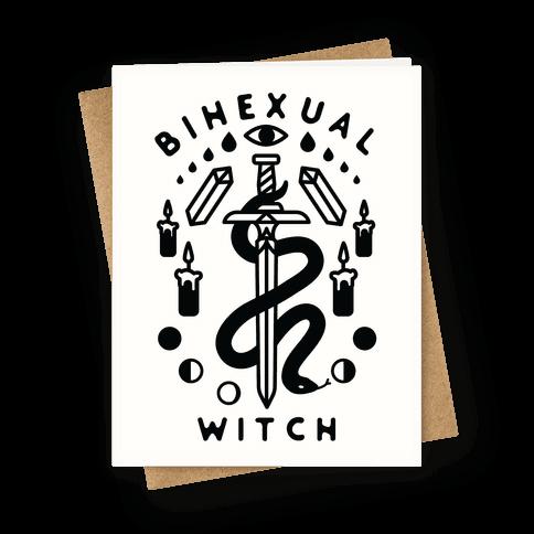 Bihexual Witch Greeting Card