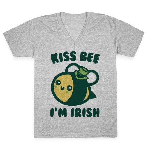 Kiss Bee I'm Irish Parody V-Neck Tee Shirt