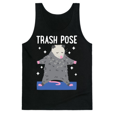 Trash Pose Opossum Tank Top