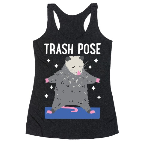 Trash Pose Opossum Racerback Tank Top