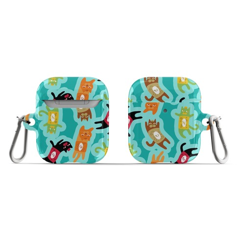 Carbonated Cats Pattern AirPod Case