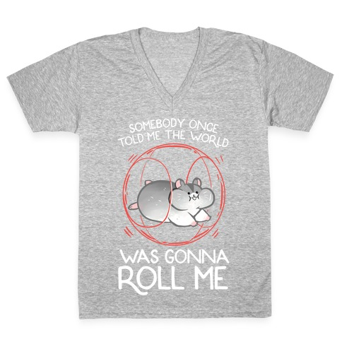 Somebody Once Told Me The World Was Gonna Roll Me V-Neck Tee Shirt
