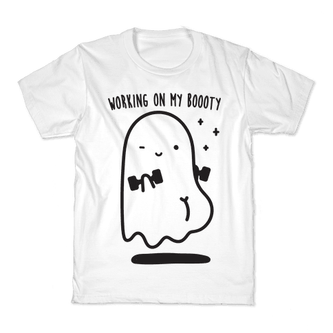 Working On My Boooty Ghost Kids T-Shirt