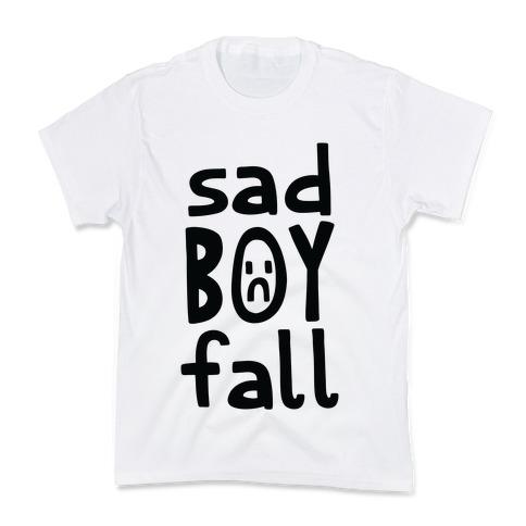 Sad Boy Fall Kids T-Shirt
