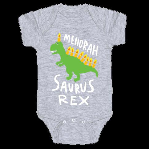 Menorah Saurus Rex Baby One-Piece
