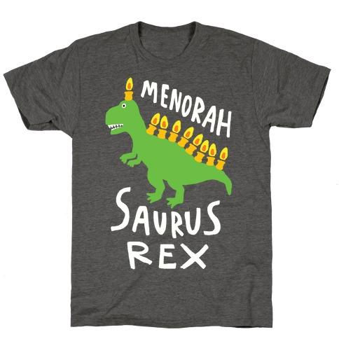 Menorah Saurus Rex T-Shirt