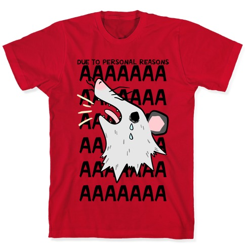 Due To Personal Reasons AAAA T-Shirt