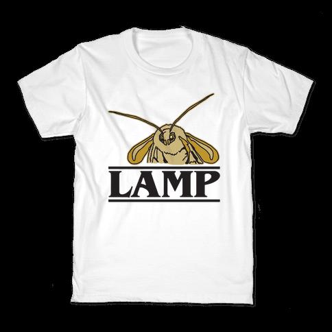 Lamp Moth Stranger Things Parody Kids T-Shirt