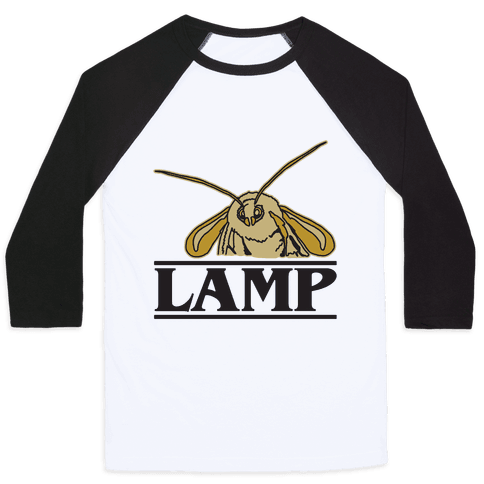 Lamp Moth Stranger Things Parody Baseball Tee