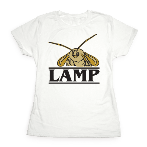 Lamp Moth Stranger Things Parody Womens T-Shirt