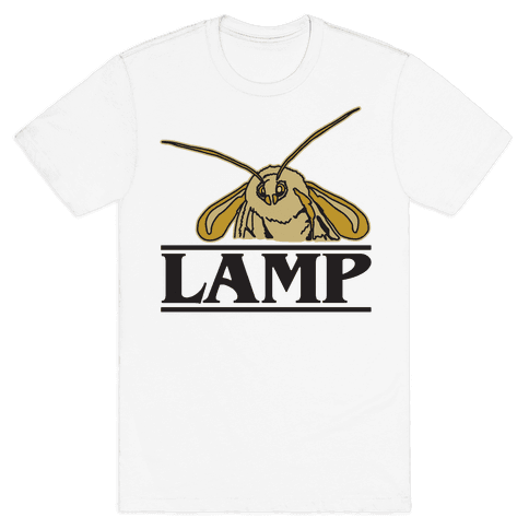 Lamp Moth Stranger Things Parody Mens T-Shirt