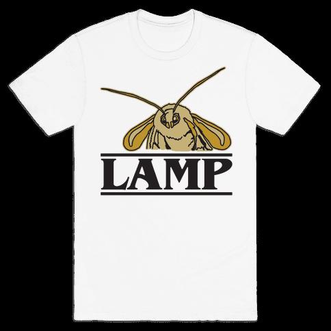 Lamp Moth Stranger Things Parody Mens T-Shirt