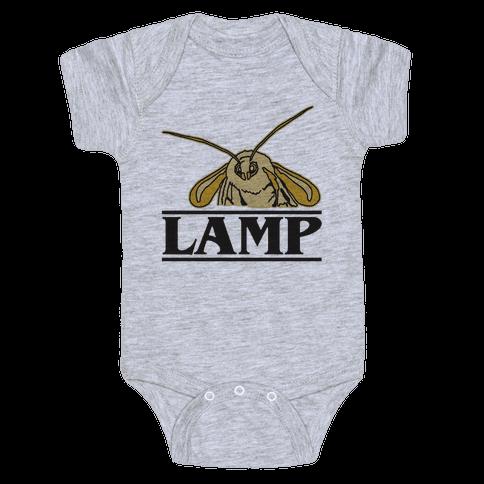 Lamp Moth Stranger Things Parody Baby Onesy