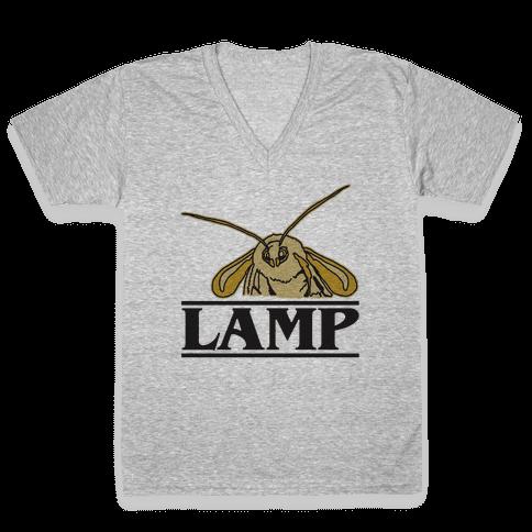 Lamp Moth Stranger Things Parody V-Neck Tee Shirt