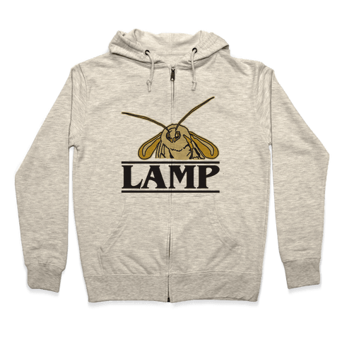 Lamp Moth Stranger Things Parody Zip Hoodie