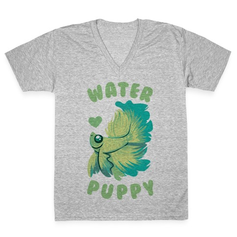 Water Puppy! V-Neck Tee Shirt