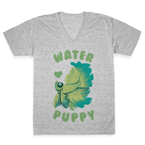 Water Puppy! V-Neck Tee Shirt