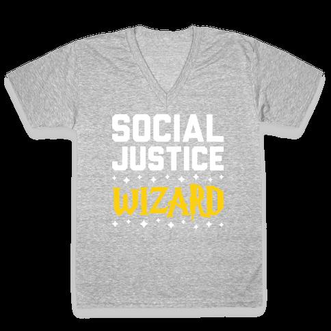 Social Justice Wizard V-Neck Tee Shirt