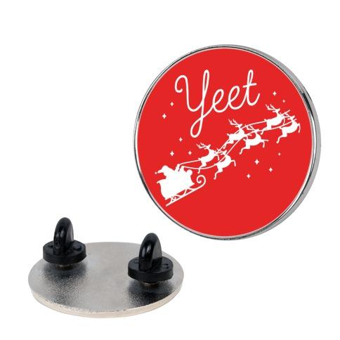 Yeet Santa Sleigh Pin