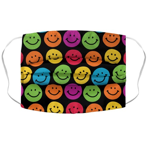 Smiley Sticker Pattern Accordion Face Mask