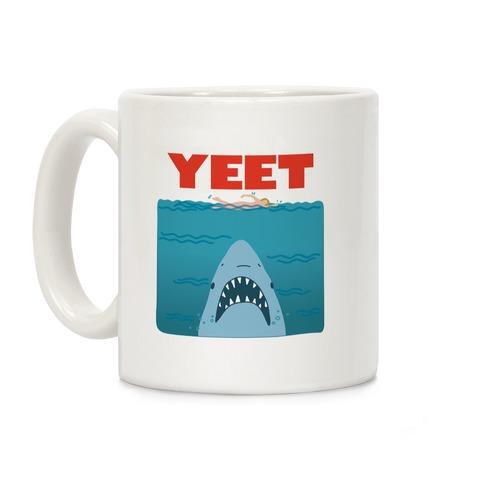 Yeet Jaws Parody Coffee Mug