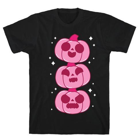 Kawaii Pumpkin Trio Pink T-Shirt