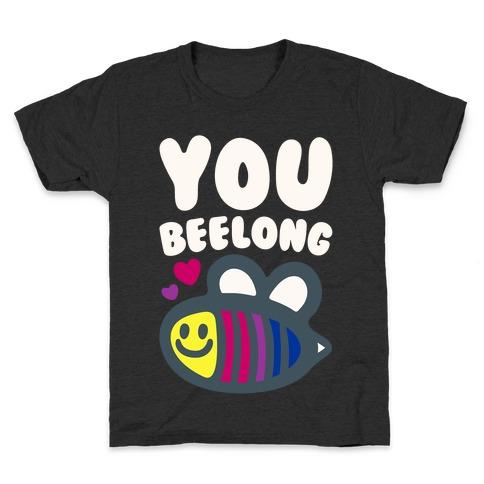 You Belong Bisexual Pride White Print Kids T-Shirt