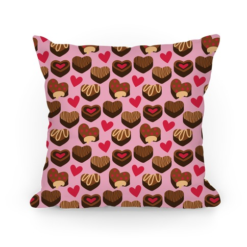 Chocolates of Love Pattern Pillow