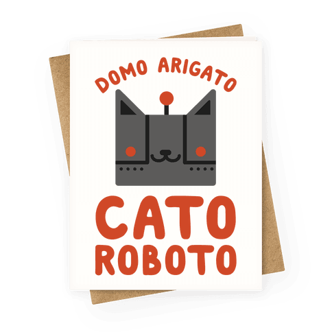 Cato Roboto Greeting Card
