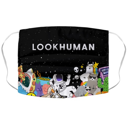 LOOK HUMAN Face Mask Cover