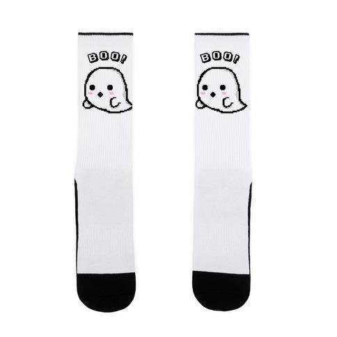 Pixel Ghost Sock
