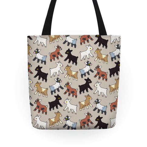 Baby Goats On Baby Goats Pattern Tote