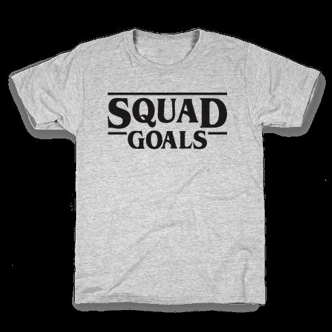 Stranger Squad Goals Parody (Black) Kids T-Shirt