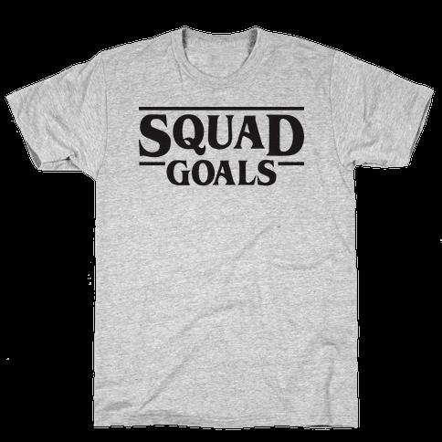 Stranger Squad Goals Parody (Black) Mens T-Shirt