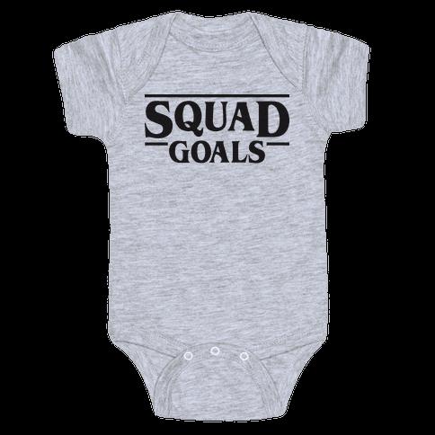 Stranger Squad Goals Parody (Black) Baby Onesy