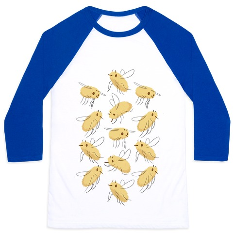 Bee Fly Pattern Baseball Tee
