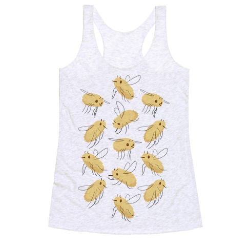 Bee Fly Pattern Racerback Tank Top