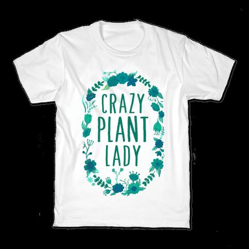Crazy Plant Lady Kids T-Shirt