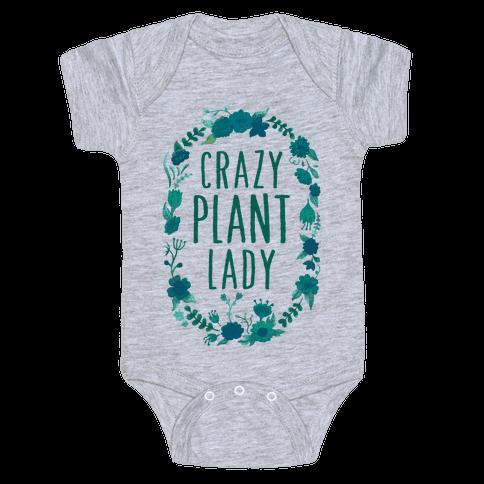 Crazy Plant Lady Baby Onesy